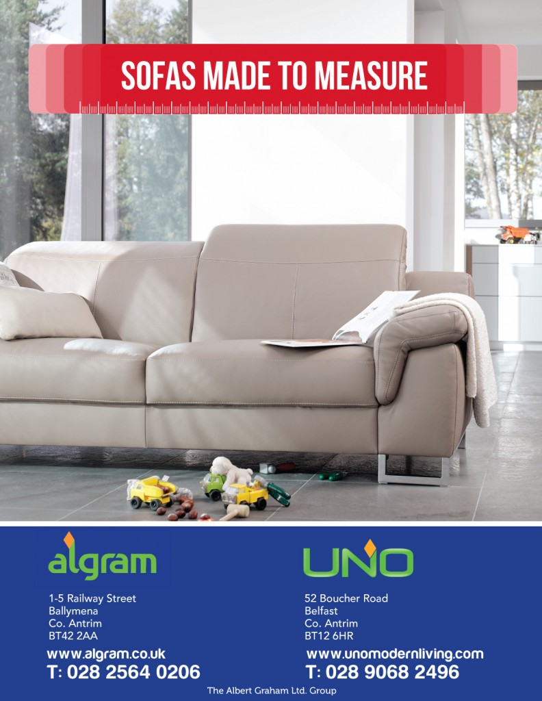 Made to measure sofa at algram ballymena ballymena today for Furniture today