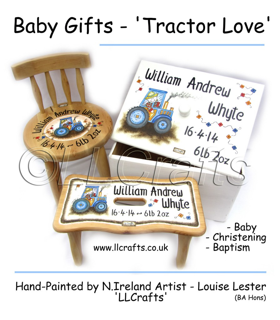 Personalised Baby Gifts Northern Ireland : Commissioned painted crafts ll ballymena