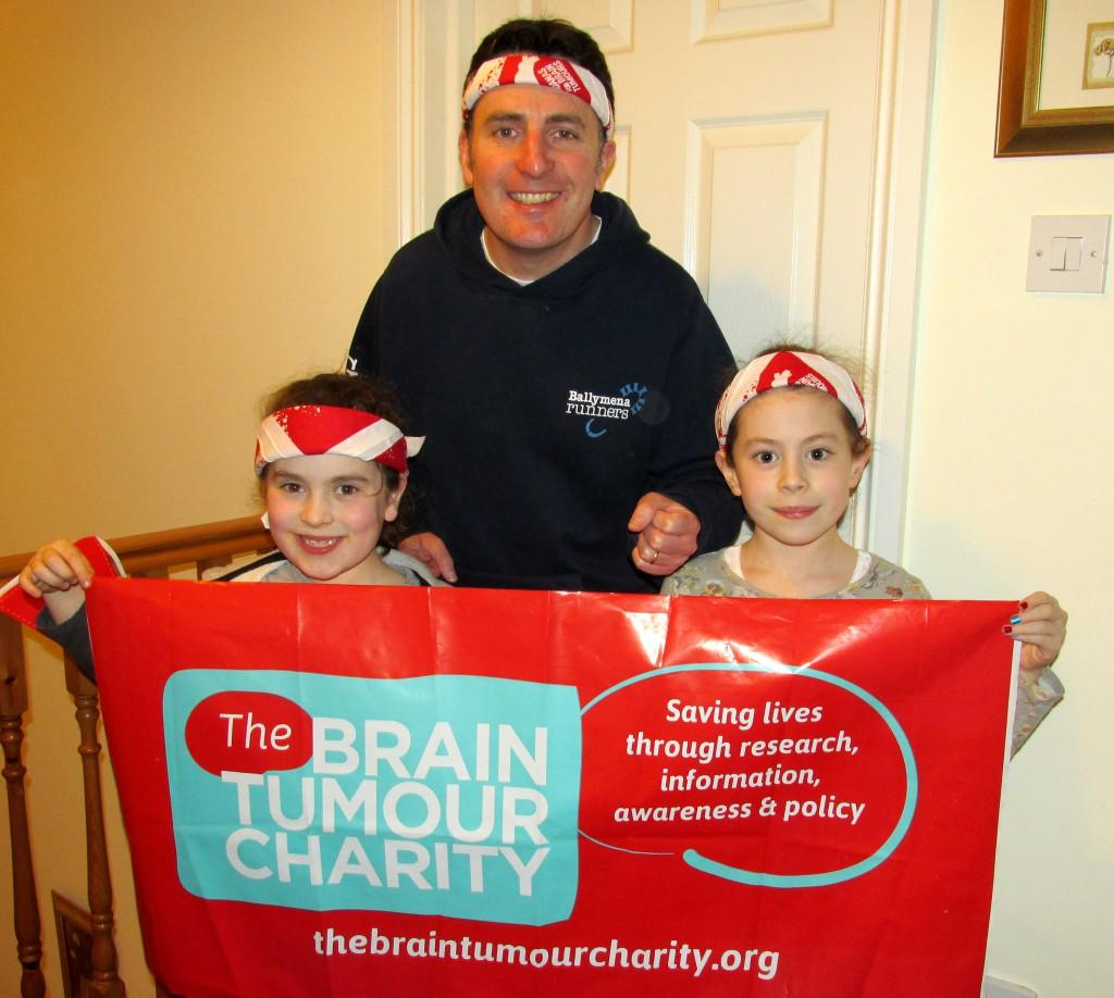 Ballymena Runners member fundraising for The Brain Tumour Charity